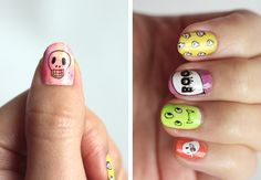 Halloween Printable Nail Decals by Small Good Things (it looks so easy to do!)