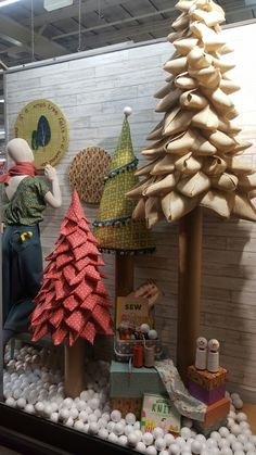 Christmas windows by Eileen McDonough at Remnant Kings Edinburgh
