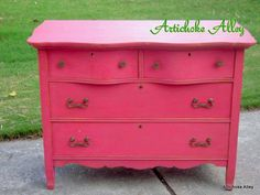 Sweetheart Pink from The Real Milk Paint Company by Artichoke Alley Mud Paint, Chalk Paint, Diy Painting, Painting On Wood, Milk Paint Furniture, Real Milk Paint, General Finishes, Mustard Seed, Annie Sloan
