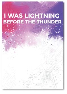 lyrics, thunder, poster