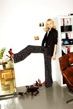 Polka dots and red shoes; so fun!  10 Crosby Derek Lam Fall 2012