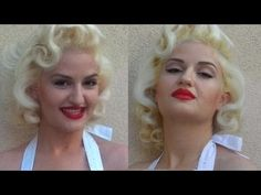 This Marilyn Monroe hair tutorial is lovely. Most of the techniques here can be used to create slightly different looks by changing the part. Pretty for short hair. Voluminous Hair Tutorial, Hair Curling Tutorial, Curly Hair Tutorial, Ball Hairstyles, Curled Hairstyles, Marilyn Monroe Haircut, Marylin Monroe, Maquillage Marilyn Monroe, Pin Curl Hair