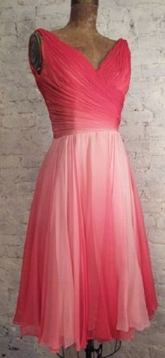 Amazing 1950s cocktail party dress features three layers of yards and ...