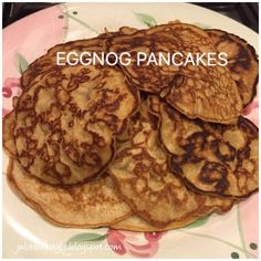 Julie's Lifestyle: Eggnog Pancakes Recipe Eggnog Pancakes Recipe, I Foods, Food To Make, Waffles, Breakfast Recipes, Link, Celebration, Posts, Holidays