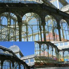 Palacio de Cristal está en el centro del Parque del Buen Retiro. Fue inspirado por el Palacio de Cristal de Londres.