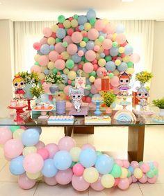 335.8 mil seguidores, 1,884 seguindo, 13.1 mil publicações - Veja as fotos e vídeos do Instagram de Kikids Party by Kiki Pupo (@kikidsparty) Elsa Birthday Party, Funny Birthday Cakes, Luau Party, Baby Party, Balloon Garland, Balloon Decorations, Balloons, Glitter Party, Lol Dolls