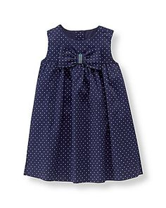 Newborn Navy Dot Bow Dotted Dress by Janie and Jack Frock Design, Baby Dress Design, Baby Girl Dress Patterns, Skirt Patterns, Coat Patterns, Blouse Patterns, Clothes Patterns, Sewing Patterns, Girls Dresses Sewing