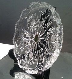 Vintage Bleikristall German Lead Crystal Dish