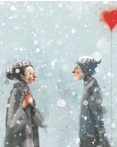Winter Is Comming, Street Painting, Winter Love, Lisa, Silent Night, Cute Pins, Whimsical Art, Fantasy Characters, Caricature