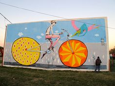 Street Art Cycliste par Mart