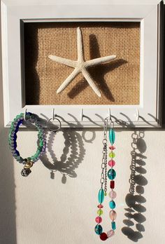White Starfish key or jewelry holder Nautical Pinterest