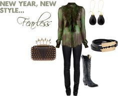 """""""New Year, New Style...Fearless"""" by westernglamour on Polyvore"""
