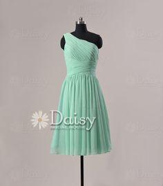 Custom Short Mint Bridesmaid Dresses,Chiffon Bridesmaid Dress Short,Green Bridesmaid Dress,Cheap Mint Green Bridal Party Dress(BM032230)