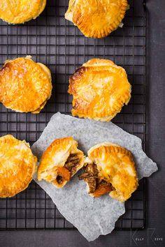 Mini Beef & Mushroom Pies look tricky to make but are easy to prepare. It does take long to prepare but the end result is worth it. Suitable for freezing.