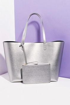 Falling in love with the limited-edition capsule collection of metallic leathers // Mansur Gavriel for Opening Ceremony Leather Tote