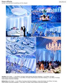 """obviously alittle too blue, but there may be some good """"sapphire"""" ideas here. Debut Themes, Debut Ideas, Sister Wedding, Wedding Stuff, Dream Wedding, Ice Blue Weddings, Winter Wonderland Theme, Wedding Decor, Wedding Ideas"""