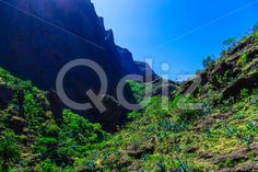 Qdiz Stock Images Mountains on Tenerife Island in Spain,  #blue #Canary #day #green #island #landmark #landscape #mountain #nature #park #rock #sky #Spain #spring #summer #Tenerife #Travel #tree #view