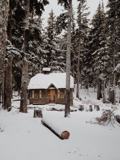 nothing like a cabin in the winter!