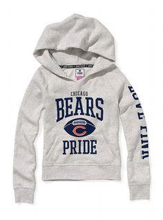 Chicago Bears Split Neck Hoodie - Victoria's Secret PINK® - Victoria's Secret