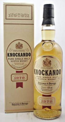 Discontinued vintage bottling of Single Malt Scotch Whisky from the Knockando Distillery.