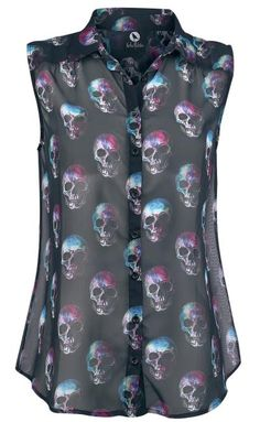 Fearless Illustration Multi Skull Blouse ~ EMP