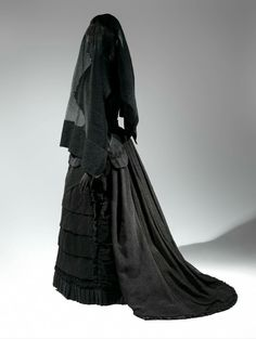 Gothic funeral dress