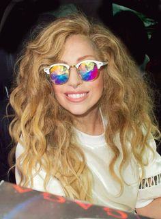 Lady Gaga in Clubmasters Style #sunglasses