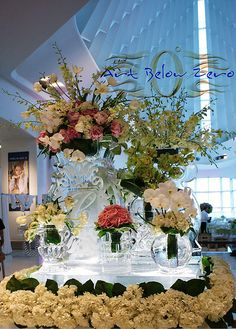 Fabulous Ice Flower Vases _Ice Sculpture _Wedding _Events _Centerpieces _Functional Ice