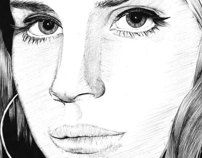 Lana del Rey by SOFIA ALMAZAN, via Behance