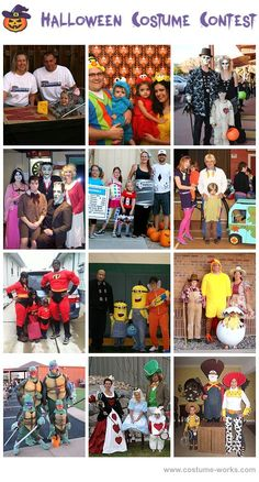 Homemade Costumes for Families - a lot of homemade costume ideas!