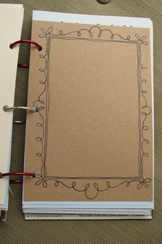 Start your journal with a variety of borders to take away the blank pages.