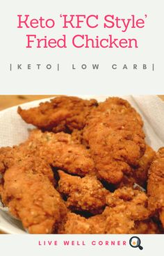 Keto KFC Style Fried Chicken Recipe All Protein Low Carb lowcarbrecipes kfcrecipes ketorecipes chickenrecipes Best Low Carb Recipes, Low Carb Dinner Recipes, Keto Dinner, Ketogenic Recipes, Diet Recipes, Healthy Recipes, Ketogenic Diet, Shake Recipes, Vegetarian Recipes