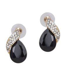 Buy Shimmer Black Vintage Crystal Earring danglers-drop online