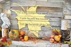 Pallet wood sign for your fall mantel.