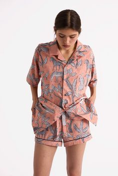 Spotlight  Desmond   Dempsey. Boyfriend ShirtCotton PyjamasPrinted ... b96d8a6df