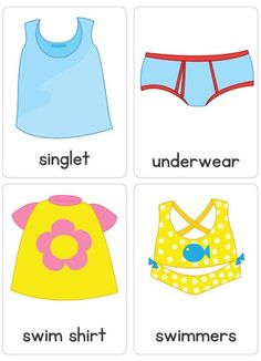 Clothing Flash Cards – Busy Little Bugs Learning English For Kids, English Lessons For Kids, English Worksheets For Kids, English Activities, Teaching English, Learn English, Kids Learning, Preschool Education, Preschool Worksheets