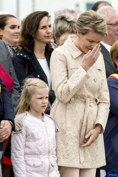 On July 12, 2015, Queen Mathilde and Princess Eleonore attended the annual 'Sea Blessing'.
