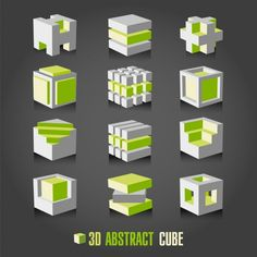Illustration of adstract cube vector art, clipart and stock vectors. Concept Models Architecture, Architecture Concept Drawings, Classical Architecture, Architecture Design, Module Design, Cube Design, Isometric Drawing, Isometric Cube, 3d Max Vray