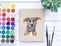 Disney Style Pet Portrait Small Traditional Custom Cartoon | Etsy Pet Loss Gifts, Dog Gifts, Mothers Day Cartoon, Disney Style Drawing, Classic Disney Movies, Pet Remembrance, Portrait Cartoon, Dog Paintings, Dog Portraits