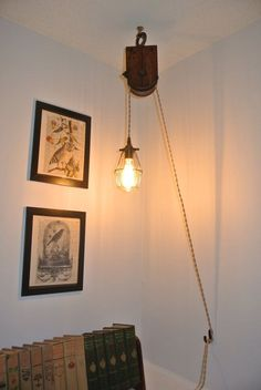 hanging pulley ceiling lamp ideas - Google Search