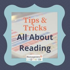 We all want to raise children who love to read, right? Every homeschool  parent I know wants to raise children who love to read. But the process of  teaching children how to read can be daunting. I have found a gentle, but  structured approach that works well for my family. I recently shared my  Love for All About Reading. Today I'm sharing my tips and tricks for using  the All About Reading program.   We have used All About Reading Pre-Reading, All About Reading Level 1, All  About Readi...
