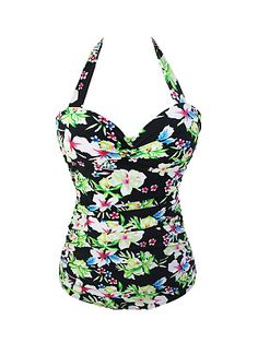 Halter Floral Printed Plus Size One Piece trendy fashion style women's clothing. Affordable prices on new tops, dresses, outerwear and more. Retro One Piece Swimsuits, One Piece Swimwear, Vintage Swimsuits, Trendy Outfits, Fashion Outfits, Fashion Trends, Latest Fashion, Trendy Fashion, Fashion Online