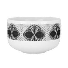 Custom Urban Black & White Mug - Soup Mug Lover - modern gifts cyo gift ideas personalize