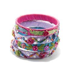 Colorful Fabric Bracelet Set