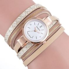 GAIETY Brand Luxury Gold Watches Women Chain Bracelet Watch Rhinestone Dress Ladies Leather Vintage Quartz Wristwatches 2017