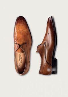 Santoni Shoes Newman Medallion Toe Wing Tip Oxford Image