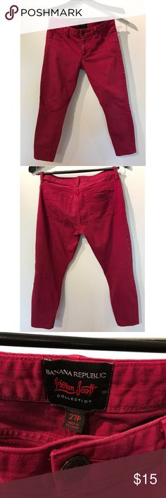 Maroon Banana Republic L'Wren Scott ankle jeans. 27p ankle jeans. Love these, super cute, gently worn. Banana Republic Jeans Ankle & Cropped
