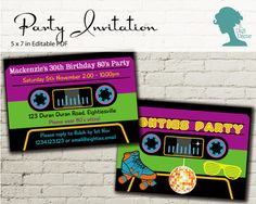 Digital Party Printable: Editable Party Invitation by digidame