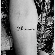 Ohana means family <3 #Family #ohana #tattoo #girls