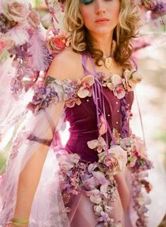 detail of a fairy gown